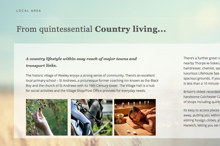 Web design and hosting for Barleyfields a new housing development in Essex