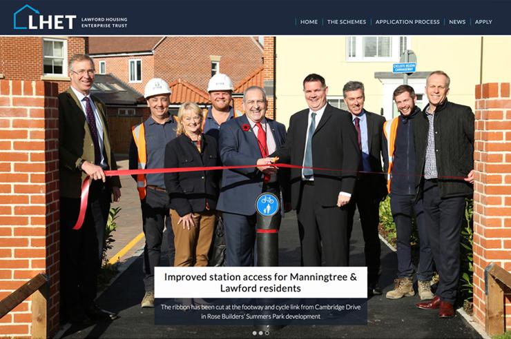 LHET – Lawford Housing Enterprise Trust – Website design and build.