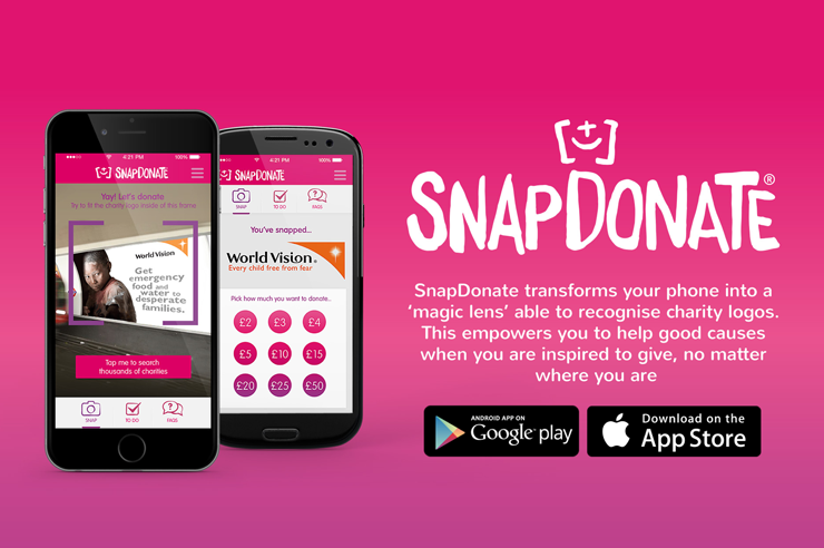 Web design and hosting for SnapDonate